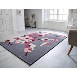 Koberec Flair Rugs Blossom Charcoal Pink, 160 x 230 cm