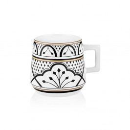 Černobílý hrnek z kostního porcelánu The Mia Maroc Fez, 480ml
