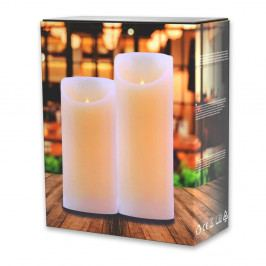 Sada 2 světelných svíček DecoKing Subtle Love