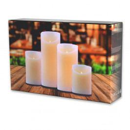 Sada 4 LED svíček DecoKing Wax, výška 10; 12,5; 15 a 20 cm