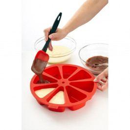 Červená silikonová dělící forma na dort Lékué, ⌀ 26,5 cm