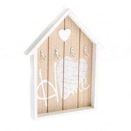 Nástěnný dřevěný věšák na klíče ve tvaru domečku Dakls Ruseno