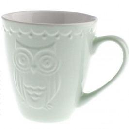 Mátově zelený keramický hrnek Dakls Owl, 530 ml