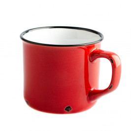 Červený keramický hrnek Dakls Story Time Over Tea, 230 ml