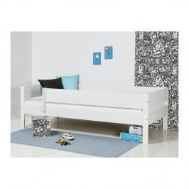 Bílá dětská postel s bezpečnostními postranními pelestmi Manis-h Huxie, 70x160cm