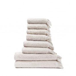 Sada 6 krémových ručníků a 2 osušek ze 100% bavlny Bonami