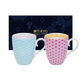 Sada modrého a růžového hrnku Tokyo Design Studio Star/Wave, 380ml