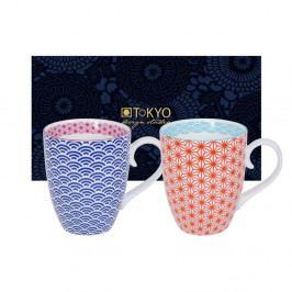 Sada modrého a červeného hrnku Tokyo Design Studio Star/Wave, 380ml