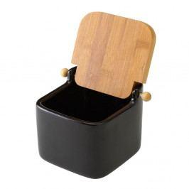 Černá keramická slánka Unimasa, 750 ml