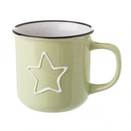 Zelený keramický hrnek Unimasa Star, 325 ml