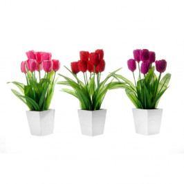 Sada 3 dekorací ve tvaru květiny Unimasa Tulip