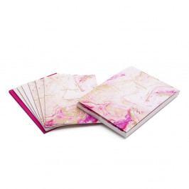 Sada 6 růžových dopisních papírů s obálkami GO Stationery Quartz