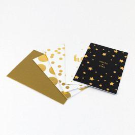 Sada 16 dopisních papírů s obálkami v dárkové krabičce GO Stationery Shimmer