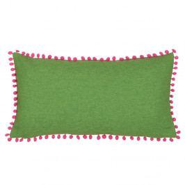 Zeleno-růžový oboustranný polštář Kate Louise Munie, 33 x 57 cm