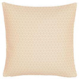 Krémový oboustranný polštář Kate Louise Galia, 45 x 45 cm