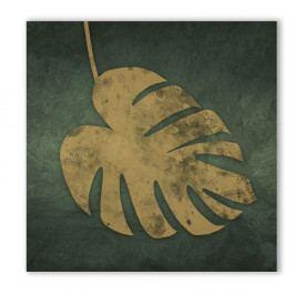 Obraz Styler Canvas Silver Uno Leaf, 65 x 65 cm