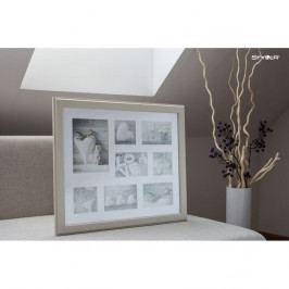Béžový rámeček na 8 fotografií Styler Malmo, 41x51cm