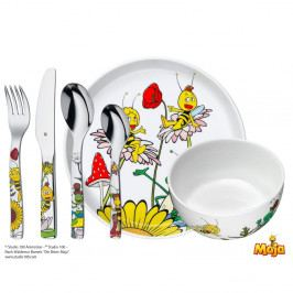 6dílný dětský jídelní set WMF Cromargan® Včelka Mája