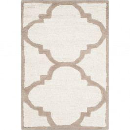 Vlněný koberec Safavieh Clark Cream, 91 x 60 cm