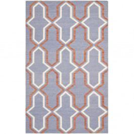 Modrošedý vlněný koberec Safavieh Aklim, 243 x 152 cm