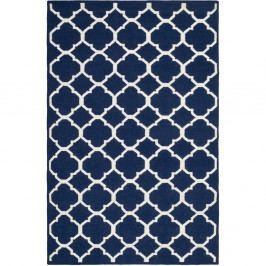 Modro-bílý vlněný koberec Safavieh Tahla, 182 x 121 cm
