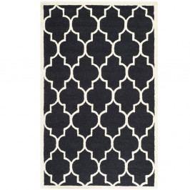 Černý vlněný koberec Safavieh Everly, 182x121cm