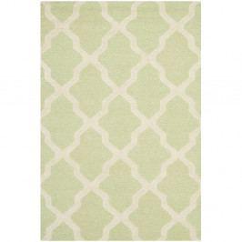 Ručně vyšívaný koberec Safavieh Ava Light Green, 182 x 121 cm