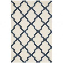 Bílomodrý vlněný koberec Safavieh Ava, 152 x 91 cm