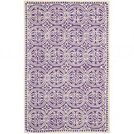 Vlněný koberec Safavieh Marina Purple, 243 x 152 cm