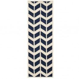 Vlněný koberec Safavieh Brenna Navy, 213 x 68 cm