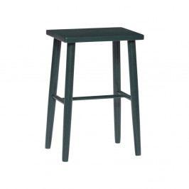 Tmavě zelená barová stolička z dubového dřeva Hübsch Oak Bar stool, výška 52 cm