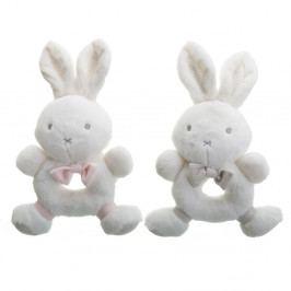 Sada 2 dětských bílých kousátek Unimasa Rabbits