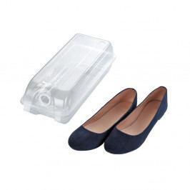 Transparentní úložný box na boty Wenko Smart, šířka 14 cm
