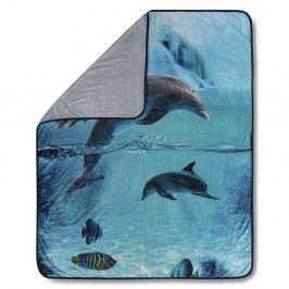 Pléd HIP Will Blue, 130 x 160 cm