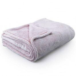 Světle růžová deka z mikrovlákna DecoKing Fluff Powderpink, 220x240cm
