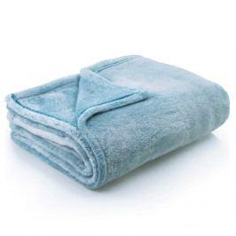 Tyrkysová deka z mikrovlákna DecoKing Fluff Turquoise, 170x210cm