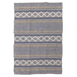 Šedý bavlněný koberec InArt Stripy, 120x180cm