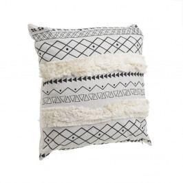 Bílo-černý polštář InArt Tribe Stripe, 45x45cm