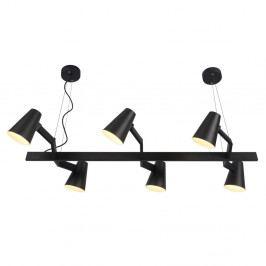 Černé závěsné svítidlo pro 6 žárovek Citylights Biarritz