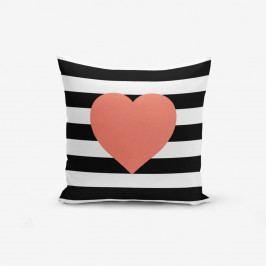 Povlak na polštář s příměsí bavlny Minimalist Cushion Covers Striped Pomegrate,45x45cm