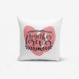 Povlak na polštář s příměsí bavlny Minimalist Cushion Covers Special Pink,45x45cm