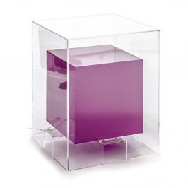 Fialový svítící odkládací stolek Tomasucci Space