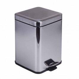 Odpadkový koš ve stříbrné barvě Tomasucci Kuby, 6l