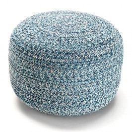 Modrý bavlněný puf Tomasucci Spring