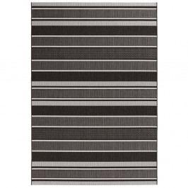Černý koberec vhodný i na ven Bougari Strap, 120x170cm