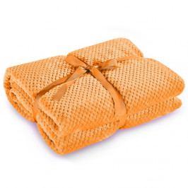 Oranžová deka z mikrovlákna DecoKing Henry, 170x210cm