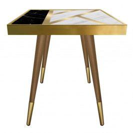 Příruční stolek Caresso Liny Marble Square, 45 x 45 cm