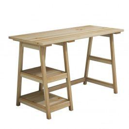 Pracovní stůl z borovicového dřeva Perla Maple, 73,5 x 120 cm
