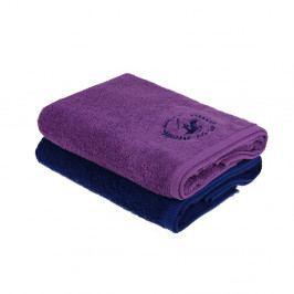 Sada 2 bavlněných ručníků, 140 x 70 cm