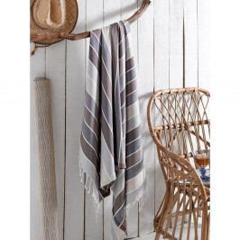 Šedý bavlněných ručník, 180 x 100 cm